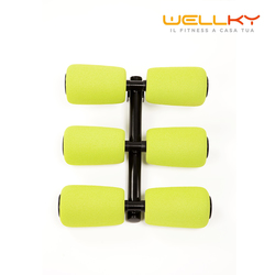 Wellky - 6 Rulli Massaggianti per Shape Cross