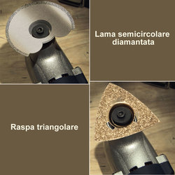 Mediashopping - Kit Lama Semicircolare Diamantata (HP40) e Raspa Triangolare (HP46)