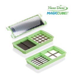Redicuochi - Set grattugia fine + 2 doppie lame per Nicer Dicer Magic Cube
