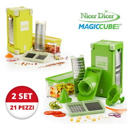 Mediashopping - Set Affettatutto Nicer Dicer Magic Cube + Nicer Dicer Magic Cube GOURMET