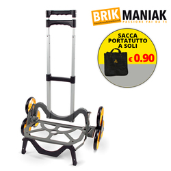 Brikmaniak - Carrello portatutto Up Cart + sacca portatutto