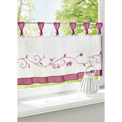 Mediashopping - Tenda in voile bordeaux, 80x45 cm