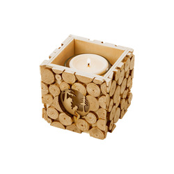 Mediashopping - Porta tealight in legno