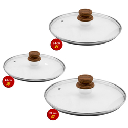 Mediashopping - Set 3 Coperchi Copper Stone