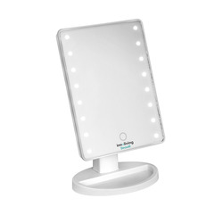 Mediashopping - Specchio luminoso con 16 led