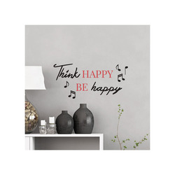 Mediashopping - Scritta adesiva  Think Happy