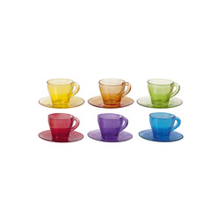 Mediashopping - Set per caffè multicolor