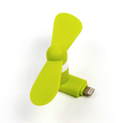 Mediashopping - Mini ventilatore per iphone, presa lightning, verde