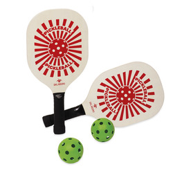Mediashopping - Set 2 racchette con 2 palline da pickleball