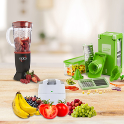 Mediashopping - Affettatutto Nicer Dicer + Mixer Rapido + Fridge Fresh