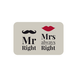 Mediashopping - Tappeto bagno memory Mr. Right