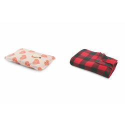 Mediashopping - Set cuori borsa acqua calda+plaid 150x125cm 160gr