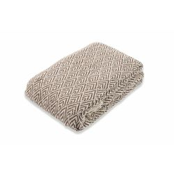Mediashopping - Coperta 150x200cm 400gsm marrone/natural