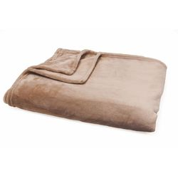 Mediashopping - Coperta in flanel fleece 300gsm 130x160cm marrone