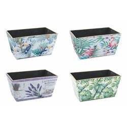Mediashopping - Jungle vaso plastica 20,5x13,5x10,5 cm altezza 4 a