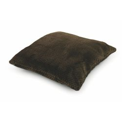 Mediashopping - Cuscino fleece 60x60cm 800gr marrone