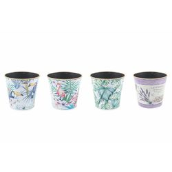 Mediashopping - Jungle vaso plastica 17x15,5 cm altezza  4 ass.