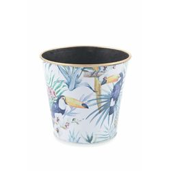 Jungle vaso plastica 17x15,5 cm altezza  4 ass.
