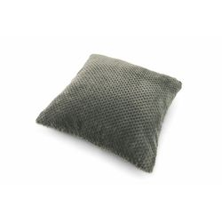 Mediashopping - Cuscino fleece 45x45cm 400gr grigio scuro