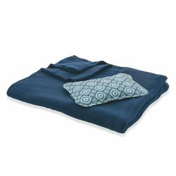 Set mattonella borsa acqua calda+plaid 150x125cm