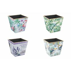 Mediashopping - Jungle vaso plastica 13,5x13.5x13 cm altezza
