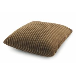 Mediashopping - Cuscino flannel 45x45cm 400gr marrone