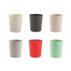 Mediashopping - Set 6 bicchieri colorati 6 ass. 370ml