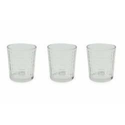 Mediashopping - Set 3 bicchieri acqua quadri 370ml