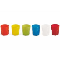 Mediashopping - Set 6 bicchieri colorati 300ml 6 ass.