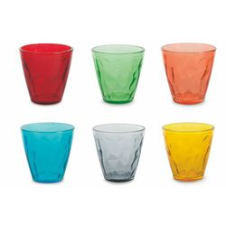 Mediashopping - Set 6 bicchieri diamond colorati 280ml 6 ass.