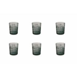 Mediashopping - Set 6 bicchieri whisky 310ml pasta vetro fume'