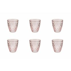 Mediashopping - Fresh set 6 bicchieri rosa scuro