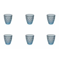 Mediashopping - Fresh set 6 bicchieri turchesi