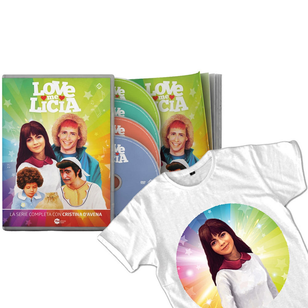 Love Me Licia (4DVD + booklet + T-shirt Licia)