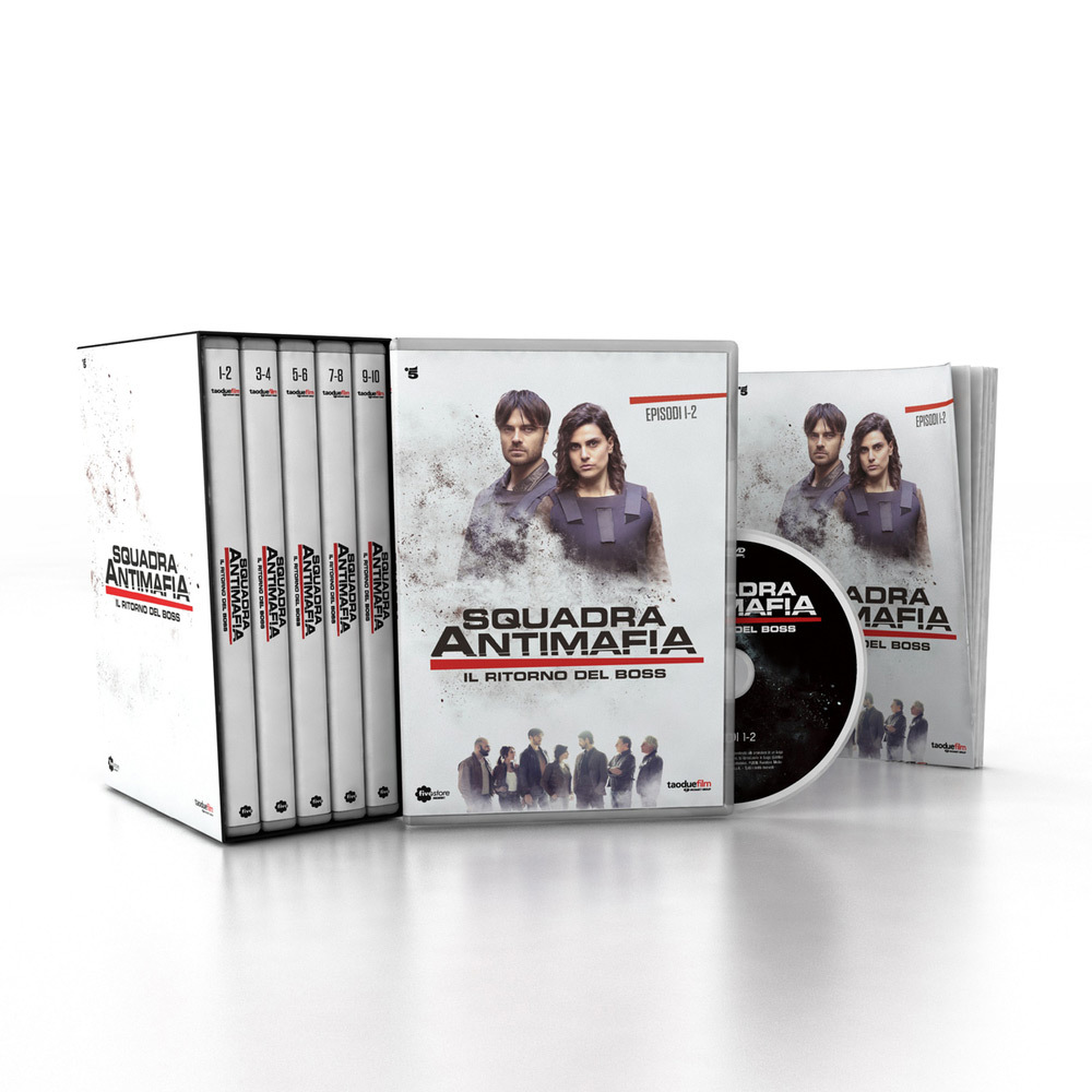 SQUADRA ANTIMAFIA 8 (COFANETTO 4 DVD + BOOKLET)