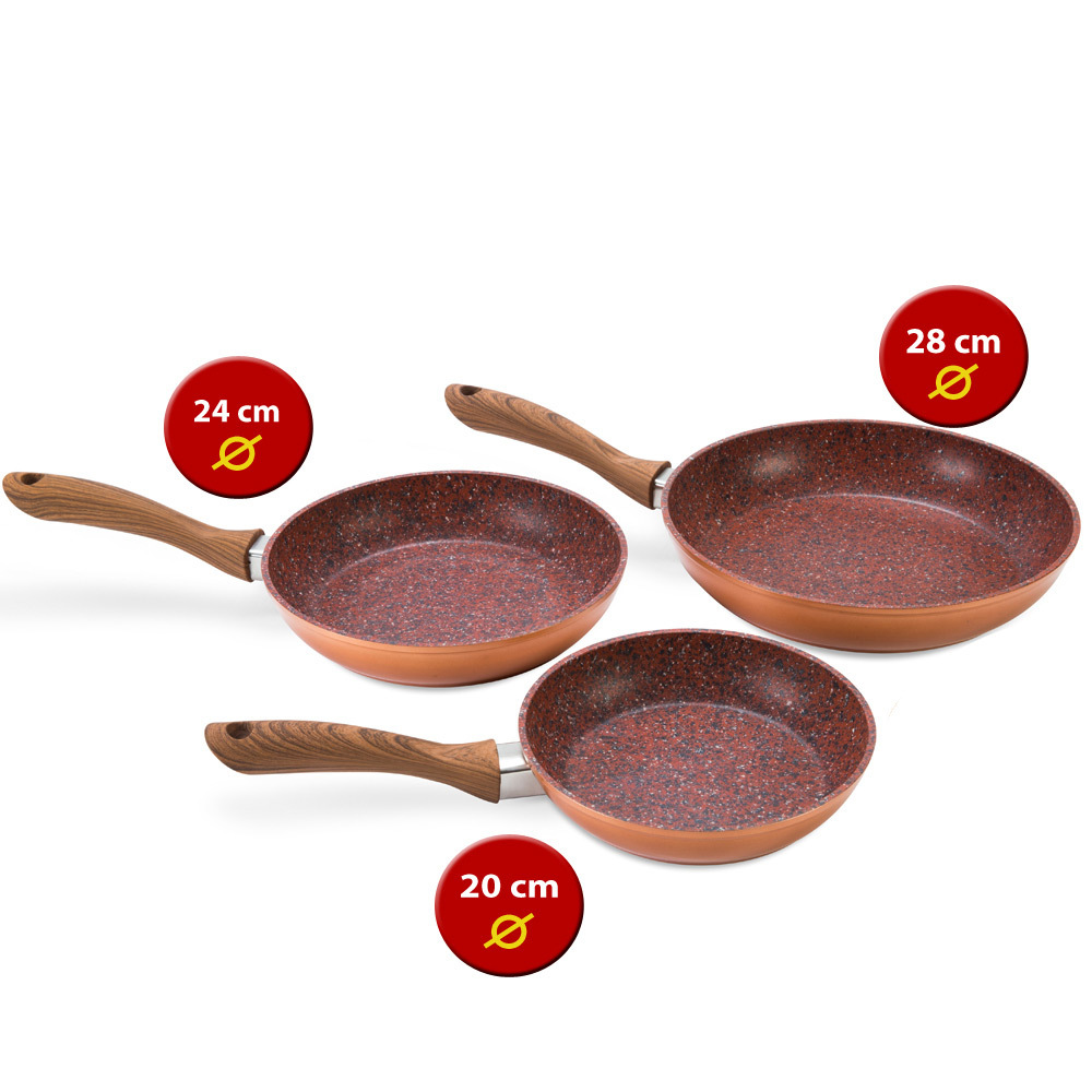 Set padelle Copper Stone